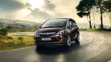 Opel Zafira Tourer Marron extérieur conduite dynamique