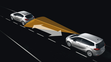 Opel Zafira Tourer - Aktywny tempomat ACC z system ostrzegania przed kolizją FCA