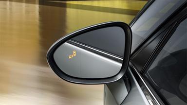 Opel Zafira Tourer - Ostrzeżenie o pojeździe w martwym polu