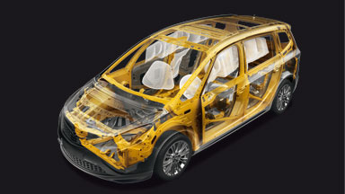 New Opel Zafira Tourer - Structured for Safety