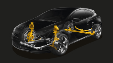 New Opel Astra GTC - Suspension avant HiPerStrut
