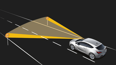 New Opel Astra GTC - Opel Eye Traffic Sign Assistant, Lane Departure Warning and Following Distance Indication