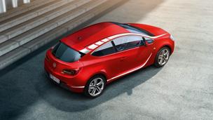 Opel Astra GTC - Надворешен комплет за декор - бело