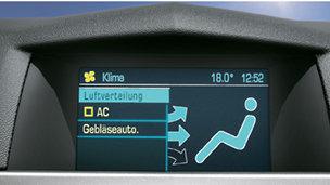 Opel Astra - Электронный климат-контроль (ECC)