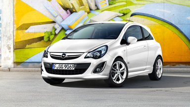 Opel Corsa 3-drzwiowy - Pakiet Linea Czarny/Biały