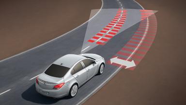 Новый Opel Insignia седан – Opel Eye, система распознавания дорожных знаков и предупреждения о выходе из занимаемой полосы движения