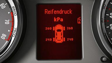 Opel Astra Hatchback - System monitorujący ciśnienie w oponach TPMS