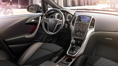 Opel Astra hatchback - Stylistyka wnętrza