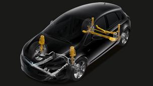 Новый Opel Astra хэтчбек – задняя подвеска с механизмом Уатта