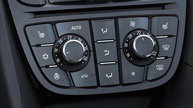 Opel Meriva - Zwei-Zonen-Klimatisierungsautomatik
