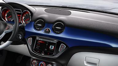 Opel ADAM intérieur bleu JAM