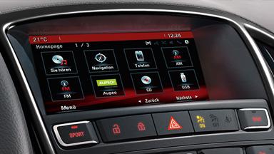 Opel Cascada - Bilgi ve Eğlence Sistemleri